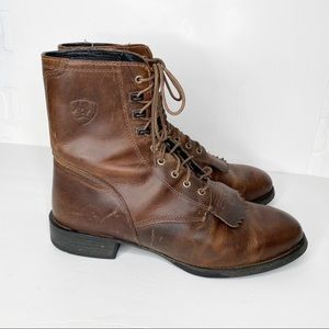 Ariat Heritage Lacer Lace Up Leather Boots 12EE